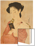 A Woman in Underclothes, 1918 Wood Print by Hashiguchi Goyo