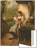 The Love Letter Wood Print by Theodore Gerard