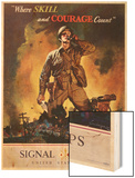 Signal Corps Recruitment Poster Wood Print by Jes Schlaikjer