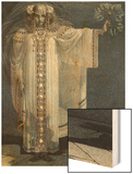 The Prophetess Libuse Wood Print by Vitezlav Karel Masek
