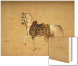 A Horse in Ceremonial Saddlecloth - the Mount of the Marquess Clanricade Wood Print by Richard Barrett Davis