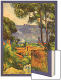 A View Through the Trees Of Wood Sign by Cézanne Paul