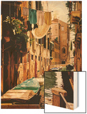 Venice Canal Wood Print by Reynard Milici