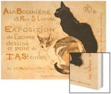 A la Bodiniere, 1894 Wood Print by Théophile Alexandre Steinlen