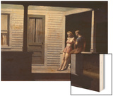 Summer Evening Wood Print by Hopper Edward