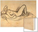 Reclining Nude, circa 1906 Wood Print by Maxime Dethomas