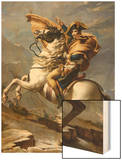Napoleon Crossing the Alps, c.1800 Wood Print by Jacques-Louis David