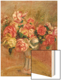 Roses in a Sevres Vase Wood Sign by Renoir Pierre-Auguste