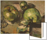 Green Apples, c.1873 Wood Sign by Cézanne Paul