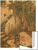 The Orange Gatherers Wood Print by John William Waterhouse