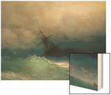 Ship on Stormy Seas Posters by Ivan Konstantinovich Aivazovsky