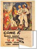 Learn Something, See Something in the U.S. Navy, c.1919 Wood Print by James Henry Daugherty