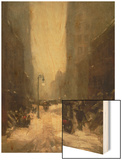 Snow in New York, 1902 Wood Print by Robert Henri