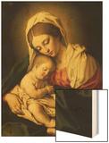 The Madonna and Child Wood Print by  Giovanni Battista Salvi da Sassoferrato