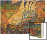 Fishing Boats, Collioure Wood Print by Andre Derain