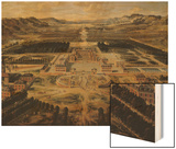 Perspective View of the Gardens and Chateau of Versailles Seen from the Paris Avenue, 1668 Wood Print by Pierre Patel