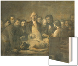 The Anatomy Lesson of Doctor Velpeau (1795-1867) Wood Print by Francois Nicolas Augustin Feyen-Perrin