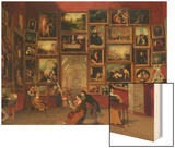 Gallery of the Louvre Wood Print by Samuel F. B. Morse