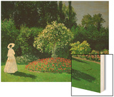 Young Woman in a Garden Poster by Monet Claude