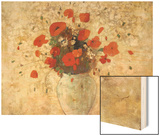 Vase of Poppies Wood Print by Redon Odilon