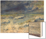 Seascape, 1879 Wood Sign by Renoir Pierre-Auguste