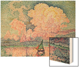Antibes, the Pink Cloud Poster by Paul Signac