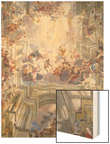 Detail of Heaven and Angels from The Glorification of Saint Ignatius Wood Print by Andrea Pozzo