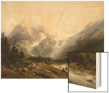 A View of Chamonix and Mont Blanc Wood Print by Joseph Jansen