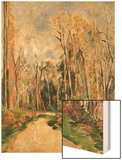 Chimney at the Entrance to the Forest Wood Sign by Cézanne Paul