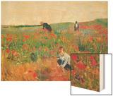 Poppies Wood Print by Mary Cassatt