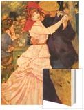 Dance In Bougival (Detail) Wood Sign by Renoir Pierre-Auguste
