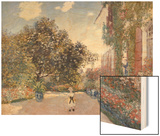 Garden of the Artist at Argenteuil Wood Print by Monet Claude