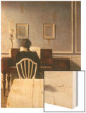 Interior with a Girl at the Clavier, 1901 Wood Print by Vilhelm Hammershoi