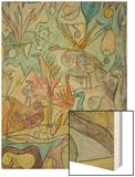 Flock of Birds; Vogelsammlung Wood Print by Paul Klee