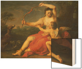 Diana Breaking Cupid's Bow, 1761 Wood Print by Pompeo Batoni
