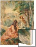 In the Meadow Wood Sign by Renoir Pierre-Auguste