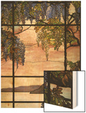View of Oyster Bay Wood Print by Louis Comfort Tiffany
