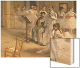 Ballet Room at the Opera in Rue le Peletier, c.1872 Print by Degas Edgar