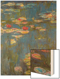 Water Lilies No. 3 Wood Print by Monet Claude