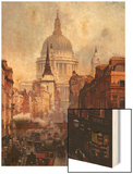 St. Paul's Cathedral and Ludgate Hill, London, England Wood Print by John O'connor