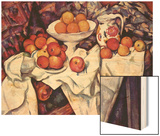 Still Life with Apples and Oranges Wood Sign by Cézanne Paul