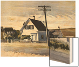 Lombard's House Wood Print by Hopper Edward
