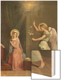The Annunciation, 1859 Wood Print by Auguste Pichon
