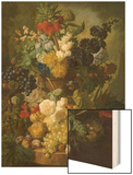 A Still Life of Flowers and Fruit Wood Print by Jan van Os