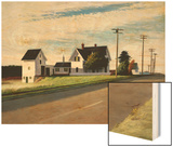 Route 6, Eastham Wood Print by Hopper Edward