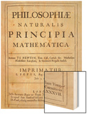Philosophiae Naturalis Principia Mathematica Wood Print by Sir Isaac Newton