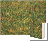 Patch of Grass Wood Print by Vincent van Gogh