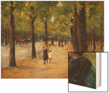 In the Tiergarten, Berlin Wood Print by Max Liebermann