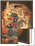 The Embrace Wood Print by Gustav Klimt