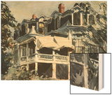 The Mansard Roof Wood Print by Hopper Edward